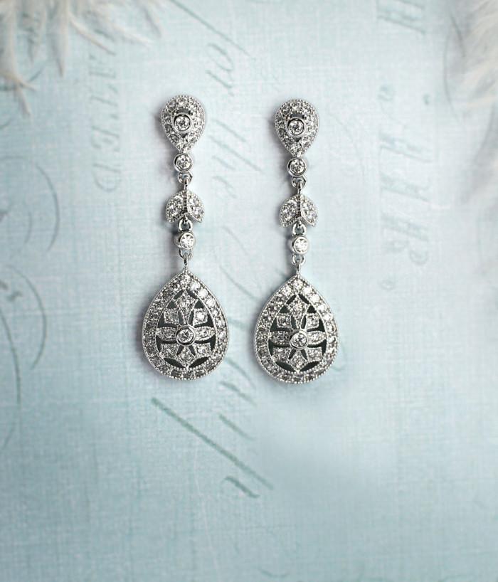 Bridal earrings by LottieDaEarrings on Etsy