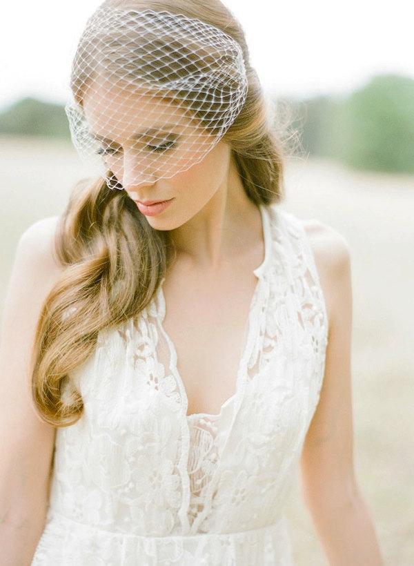 Handmade birdcage Veil by Percy Handmade | Jemma Keech Photography