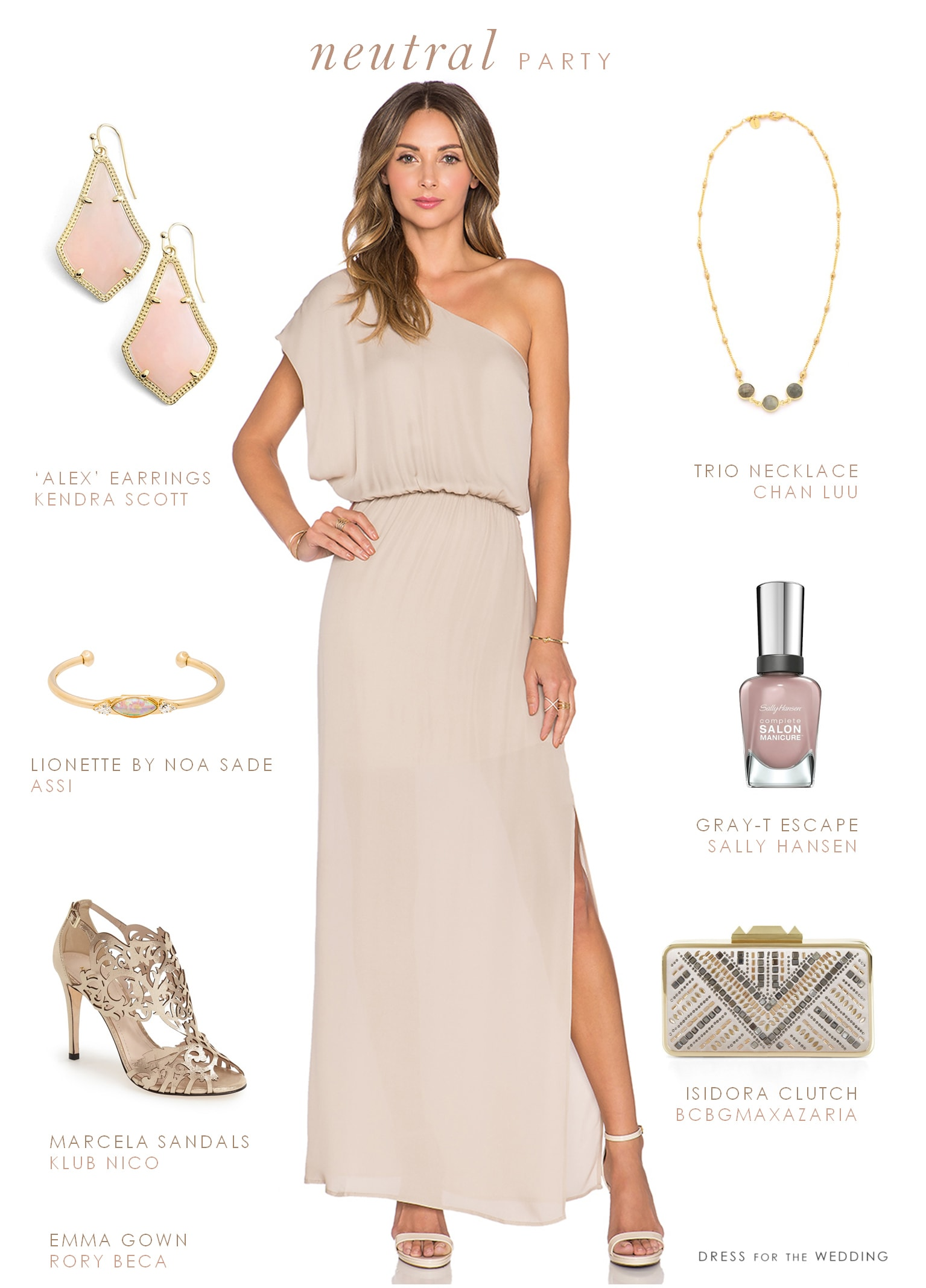Neutral maxi dress dress for the wedding for Maxi dress for a wedding