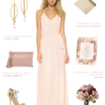 Pink wrap style bridesmaid dress