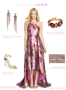 Pretty Printed Formal Gown for Fall