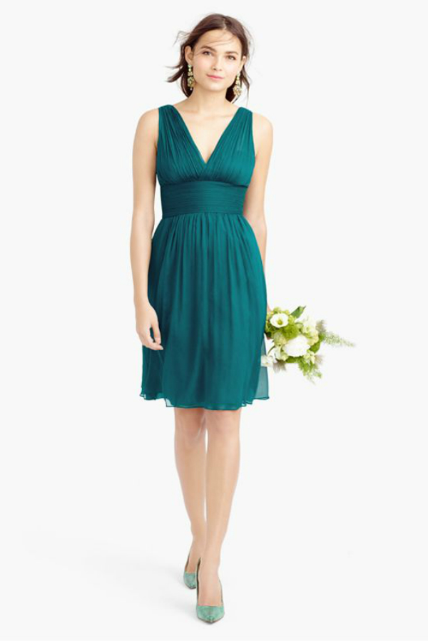 Short teal bridesmaid dresses the image for Teal dress for wedding