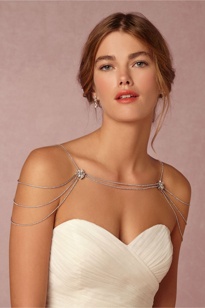 Shoulder chain for a bride | BHLDN Reina Necklace