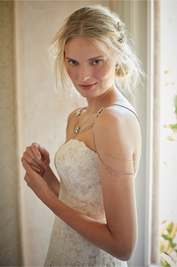 Shoulder chain for a bride | Nika necklace BHLDN