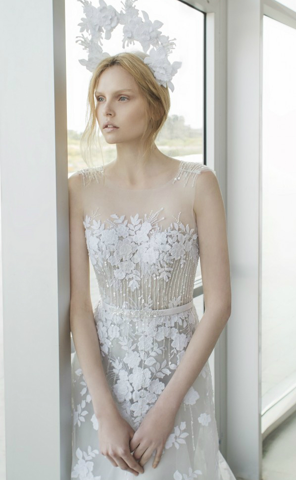 Alpha by Mira Zwillinger Detail | Gowns by Mira Zwillinger, Photography by Alexander Lipkin
