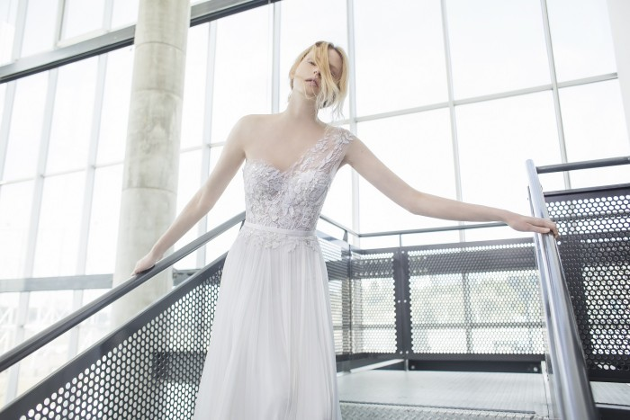 Crystal wedding gown by Mira Willinger for 2016 | Photography by Alexander Lipkin, Headpieces by Tami Bar-Lev