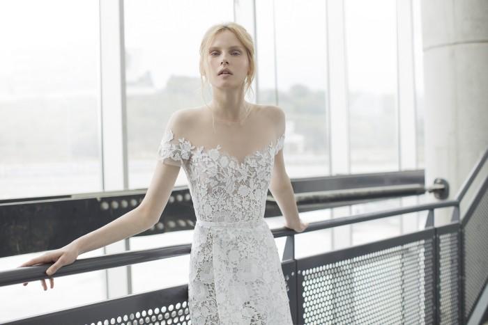 Ida, lace wedding dress by Mira Zwillinger Stardust 2016
