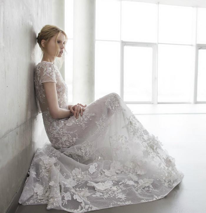 Lola wedding dress by Mira Zwillinger | Photography by Alexander Lipkin,