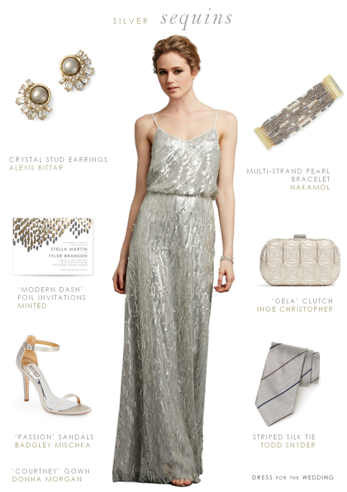 Silver Sequin Bridesmaid Dresses