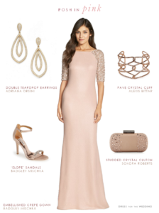 Embellished Pink Gown for a Wedding