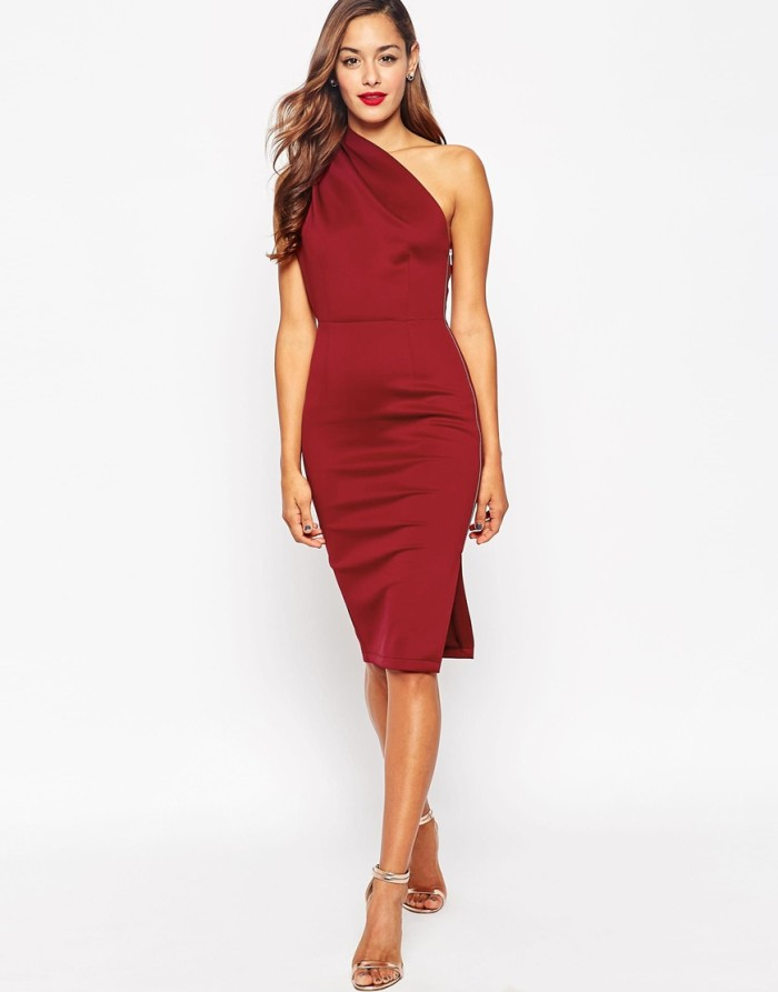 What to wear to a fall 2015 wedding for One shoulder dress for wedding guest
