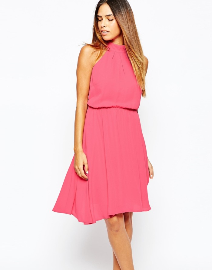 Dress ideas for a fall wedding | Pink dress for fall weddings from ASOS