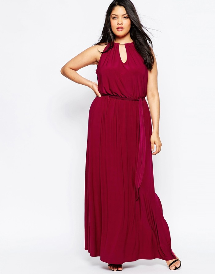 Burgundy keyhole maxi dress | Fall wedding guest outfits
