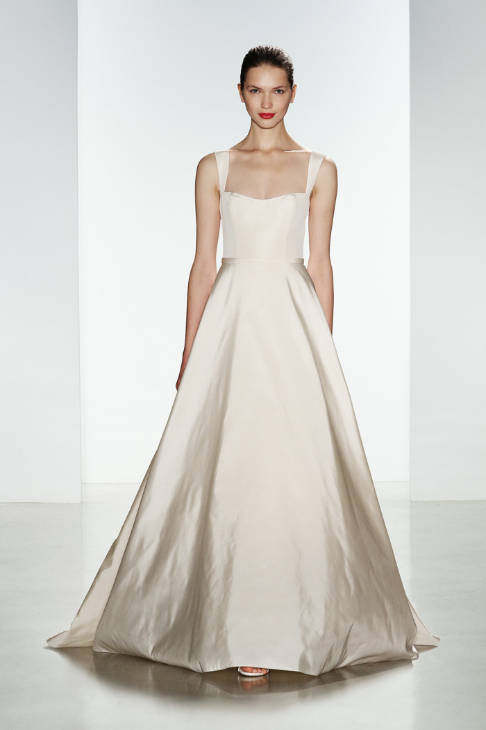 Amsale wedding dress with straps | Bleecker | Fall 2016 Designer Wedding Gown