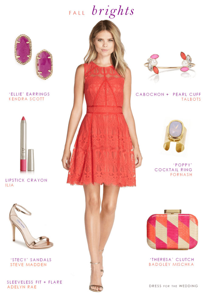 Coral Lace Dresses for Weddings