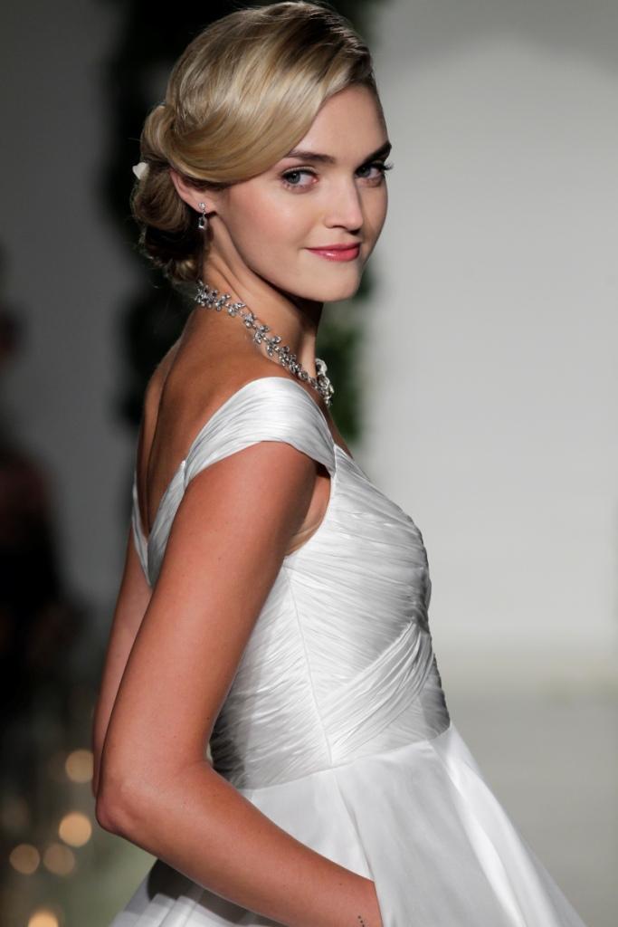 Cap sleeve detail   Anne Barge Wedding Dresses Fall 2016