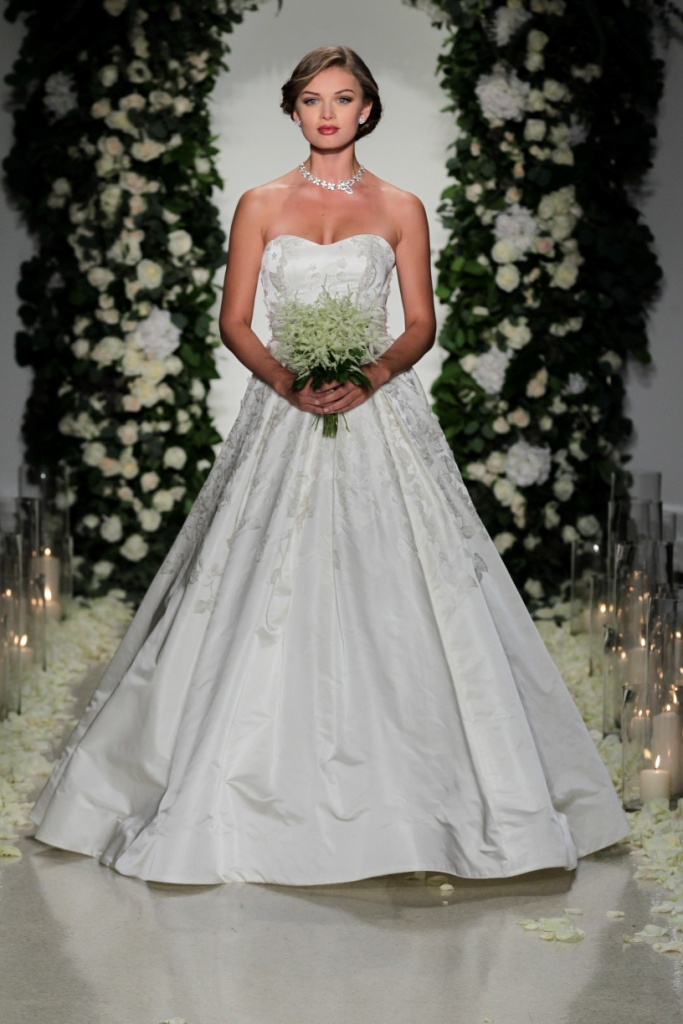 Jacquard strapless ballgown wedding dress   Anne Barge Collection for Fall 2016   Dan Lecca Photography