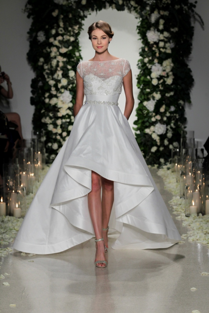 Wedding Dresses High Low Hemline 35