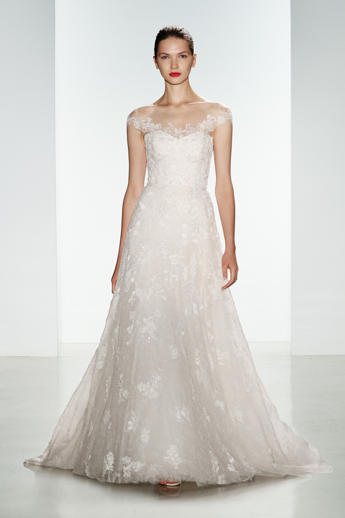 Delicately embriodered wedding gown | Mari | Amsale Fall 2016 Collection