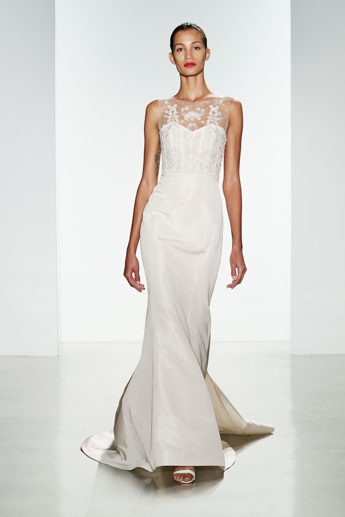Illusion neckline wedding dress   Neve by Amsale   Amsale Fall 2016 Collection