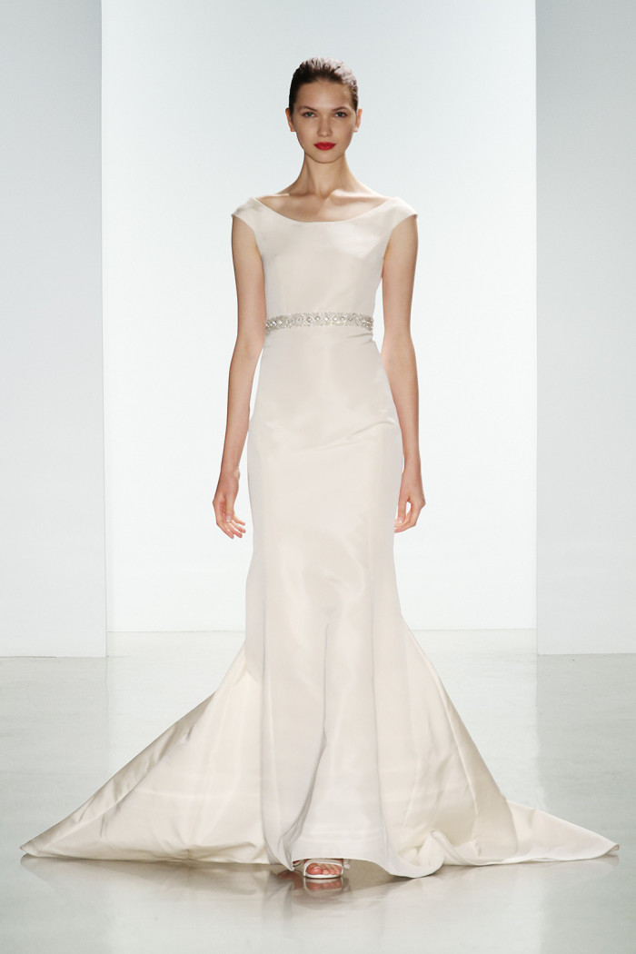 Sleek wedding gown | Robyn by Amsale Fall 2016