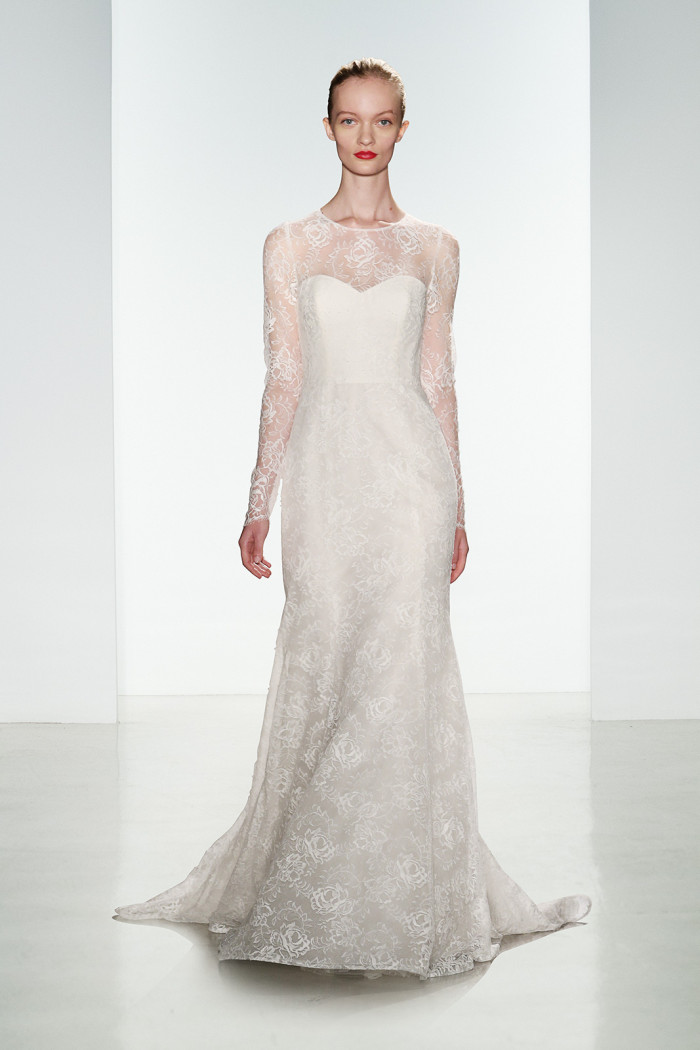Tegan | Long sleeve lace wedding dress by Amsale for 2016