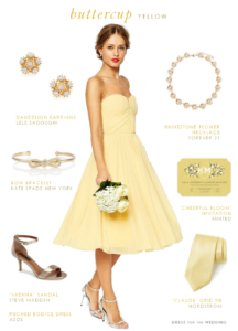Buttercup Yellow Bridesmaid Dress