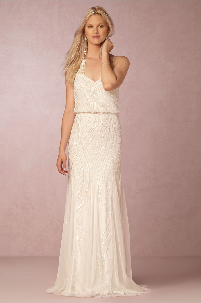 'Grazia' beaded wedding gown under $500 from BHLDN
