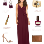Burgundy maxi dress by from Revolve by Amanda Uprichard