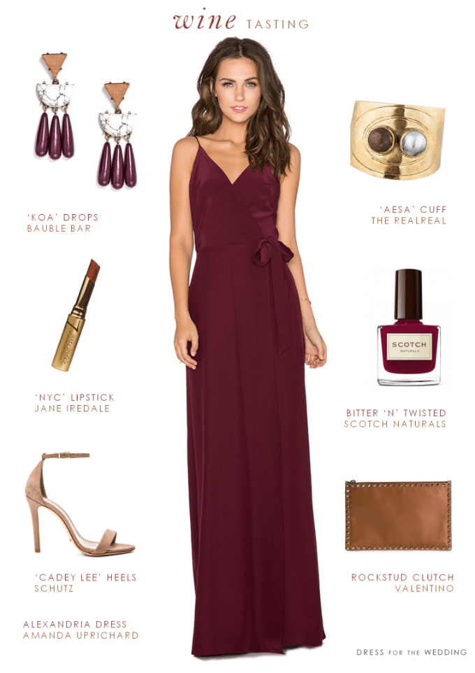 Burgundy Maxi Dress Burgundy Dress For A Wedding