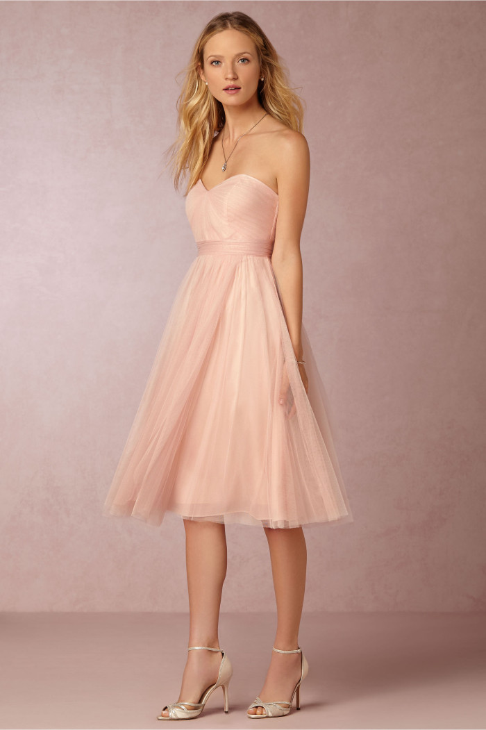 Convertible bridesmaid dress in blush pink from BHLDN