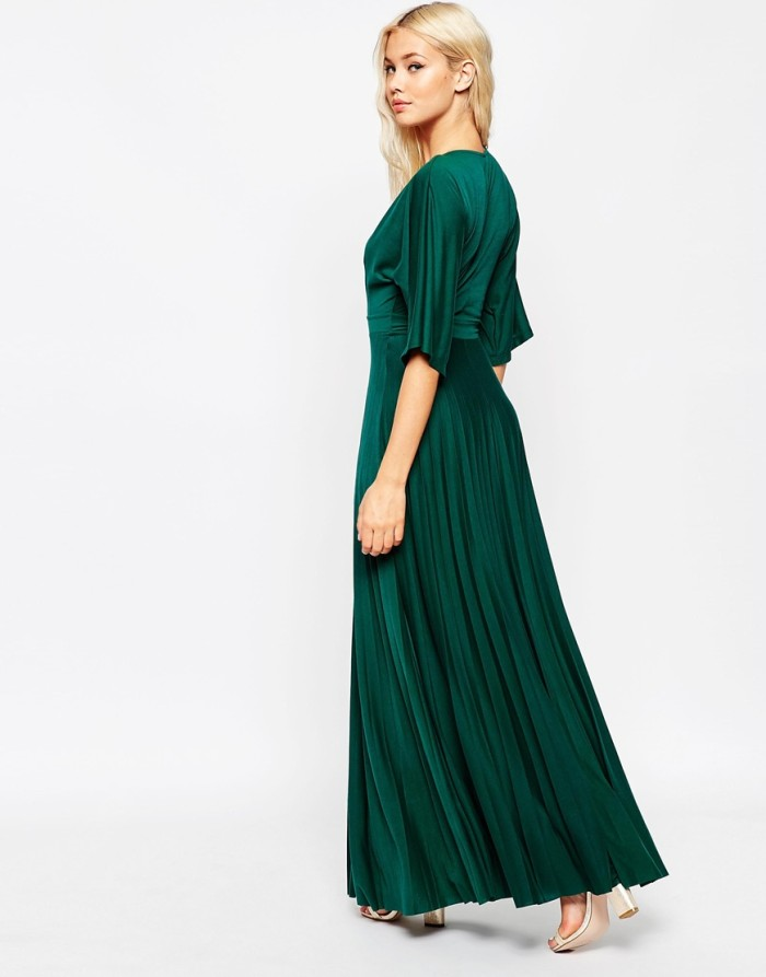 Emerald green maxi dress with sleeves from ASOS