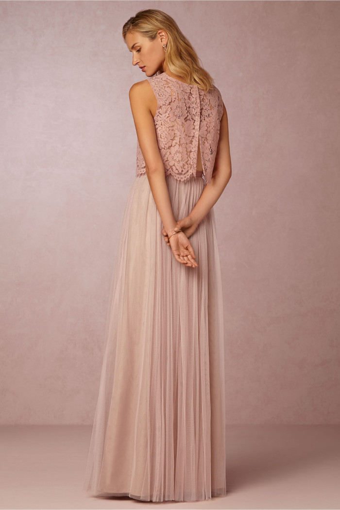 lace crop top for bridesmaid dress