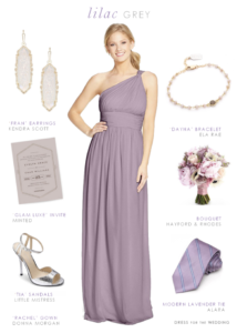 Lilac gray bridesmaid dress by Donna Morgan from Nordstrom