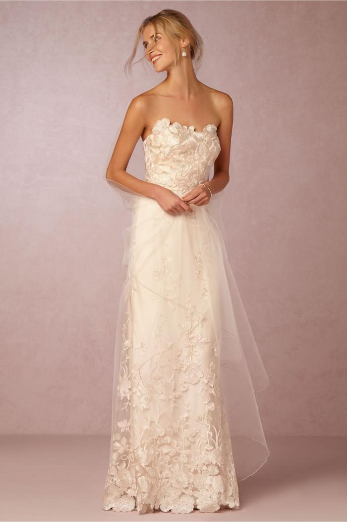 'Mirella' Gown Strapless wedding dress by BHLDN created by Marchesa