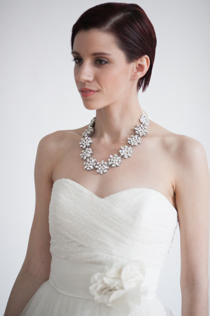 Rent a bridal statement necklace from Happily Ever Borrowed