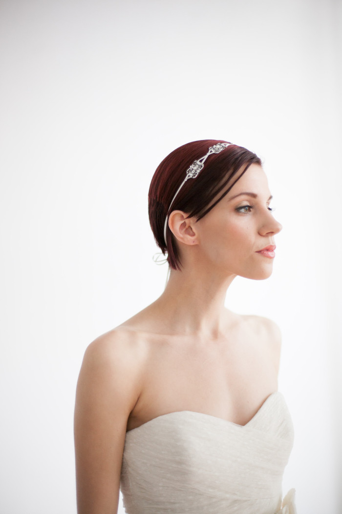 Headband for a bride | Bridal accessories for rent from Happily Ever Borrowed