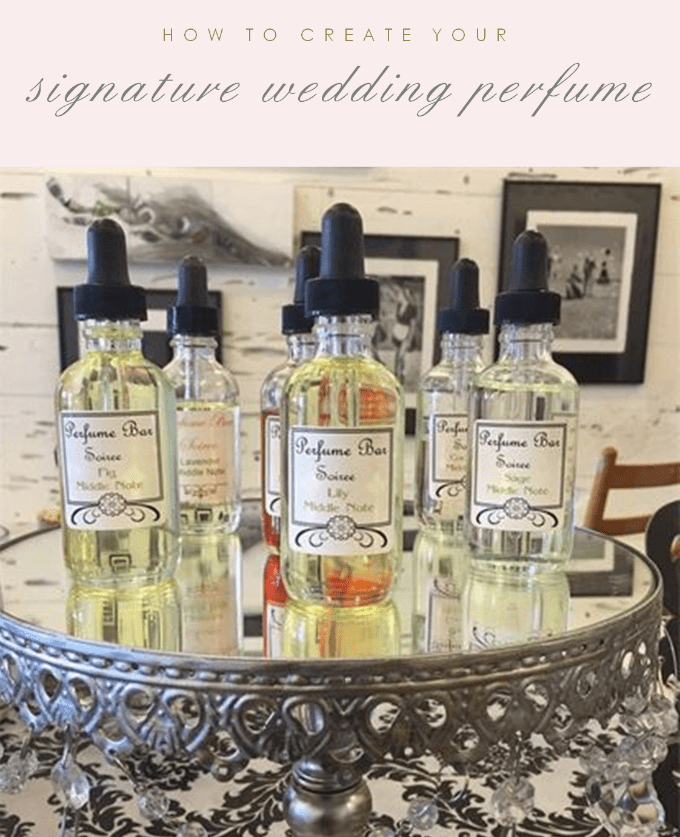 How to create a signature scent for your wedding perfume
