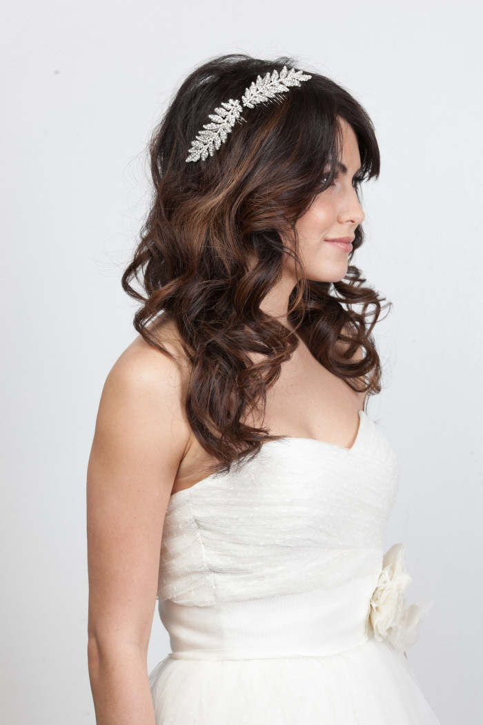 Gorgeous hair leaf accessory for a bride | Happily Ever Borrowed