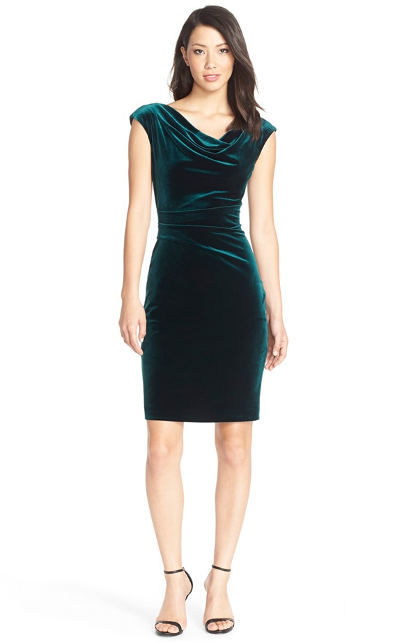 Green velvet dress | Found at Nordstrom
