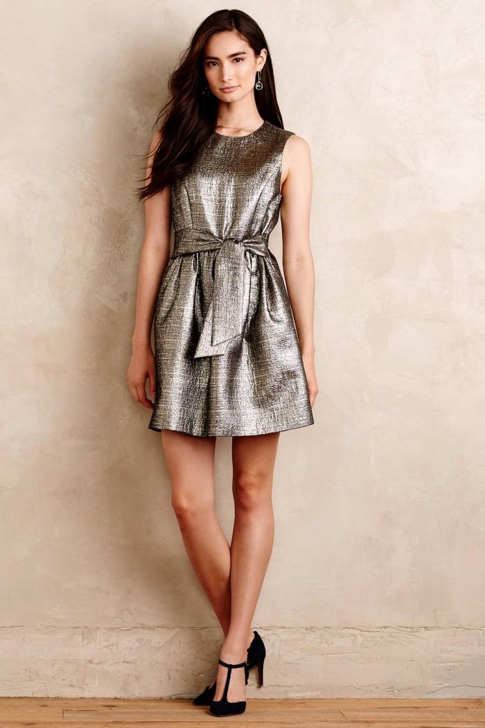 Silver dress   Found at Anthropopologie