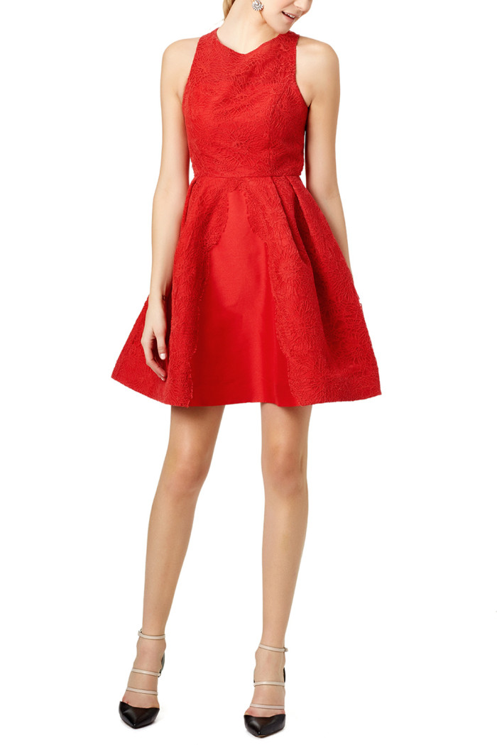 Cute red fit and flare dress | From Rent the Runway