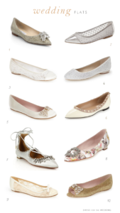 Flat shoes for weddings