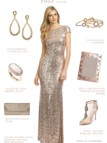 Rose Gold Wedding Attire Dress For The Wedding