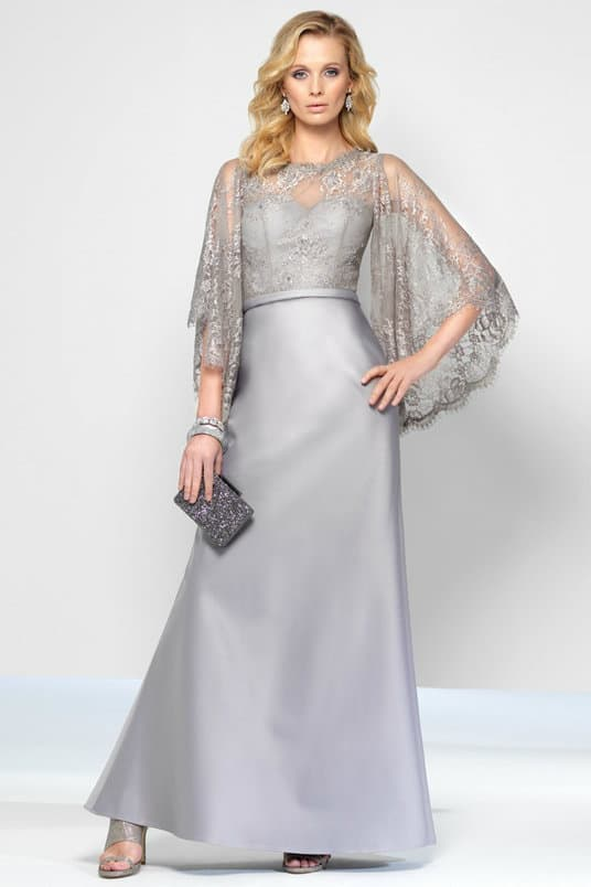 Silver Lace Gown | Silver Gray Lace Dress for a Wedding