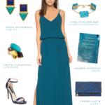 Dark turquoise maxi dress | Dresses for weddings