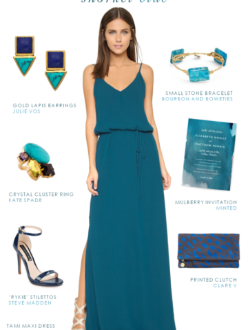 Dark turquoise maxi dress | Dresses for weddings