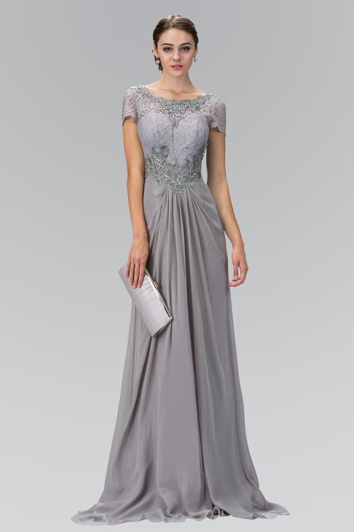 Formal Gray Evening Gown