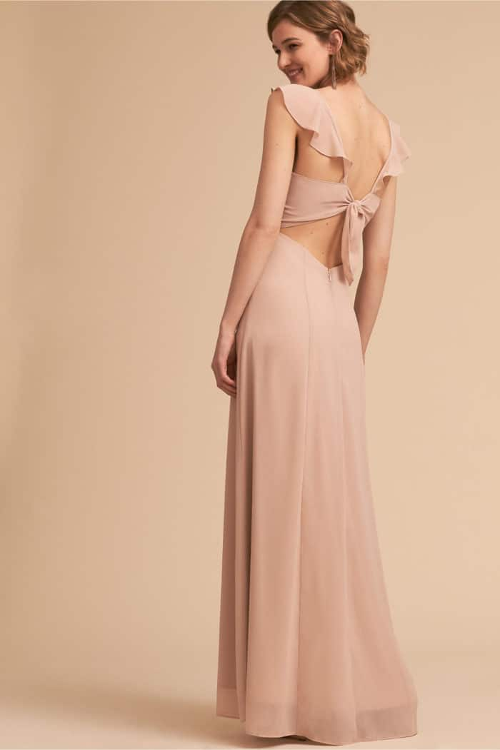 bhldn ruffled bridesmaid dress under 150