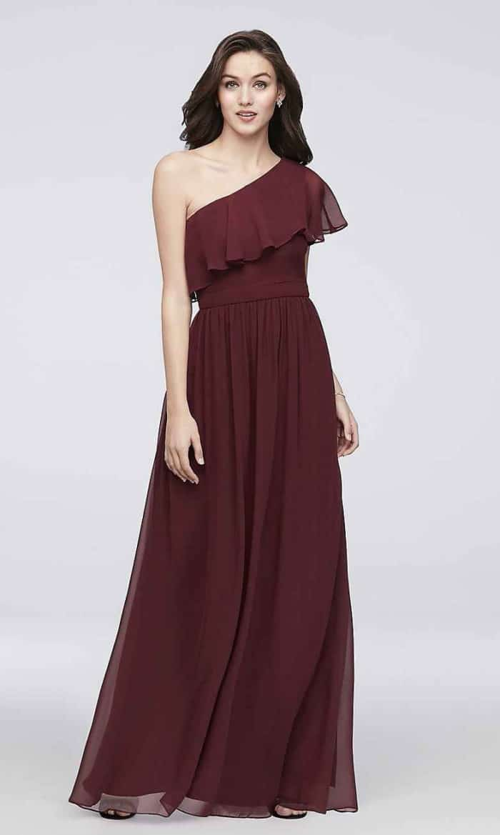 burgundy bridesmaid dress under 100